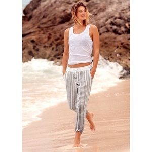 Athleta ankle crop Bali linen pants, size 6P, NWOT